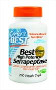 Doctor's Best High Potency Serrapeptase Vegetarian Capsules, 270 Count