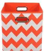 Modern Littles Folding Storage Bin, Bold Red Chevron