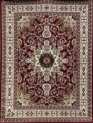 Generations Oriental Traditional Isfahan Persian Area Rug, 0.6m x 0.9m, Red/Burgundy