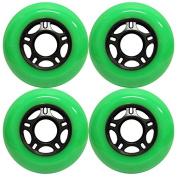 OUTDOOR Inline Skate Wheels ASPHALT Formula 76MM 89a GREEN x4