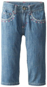 Wrangler Baby-Girls Five Pocket Styling with Embroidery Stitch Jean, Shining Star, 12 Months Colour