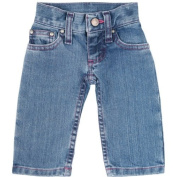 Wrangler Baby-Girls Newborn Infant Five Pocket Styling with Embroidery and Patch Jean, Baby Blue, 6-9 Months Colour