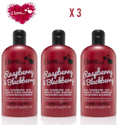 X 3 I Love... Raspberry & Blackberry Bubble Bath And Shower Creme 500ml