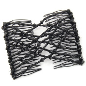 Veroda Elastic Stretchy Double Bead Hair Magic Comb Clip
