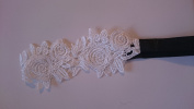 FLORAL VENETIAN LACE STRETCH BANDEAUX BROW BAND IN CREAM