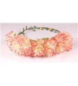Boho flower head garland flower garland floral headdress festiva wedding