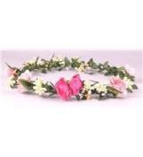 boho floral head garland flower headband floral headdress festival wedding