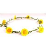 Boho floral head garland flower garland flower headband wedding festival