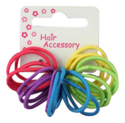 20 Girls Bright Tiny Hair Elastics