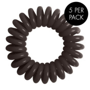 Magi Hair Bobble Traceless Hair Ring And Bracelet - Brown Invisible Hair Bobble Pack of 5, Pain Free Hair Band, Reduces Split Ends