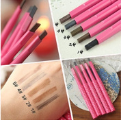 Maxdona Waterproof Retractable Long Lasting Eyebrow Eye Brow Pink Case Chalk Pen Pencil CHARCOAL GREY Number 4