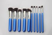 SONGQEE(TM) 10pcs Makeup Cosmetic Brush Set with Eyebrow Eyeliner Foundation Powder Kabuki Brushes