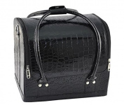 BF Black Travel Cosmetics Make Up Bags Beauty Womens Organiser Toiletry Purse Handbag CODE