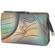 GreenLand NATURE Art + Craft Cosmetic Bag Leather 14 cm handbemalt