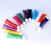 12 Colours 12ml 3D Paints Tube Drawing Acrylic Nail Art UV Gel Set For Makeup Tips