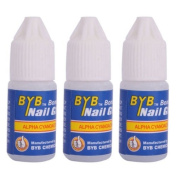 LIFECART 3pcs Acrylic Nail Art Glue French False Tips Manicure Tool