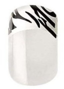 Perfect10 Instant Nails with Glue - 24 Decorated French Nails - Zebra