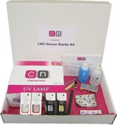 French Manicure 2 Colour CND Shellac Deluxe 14 Item Nail Starter Kit