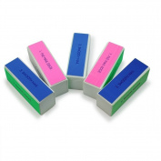 Homgaty 5pcs Manicure Product Nail Art Shiner Buffer Block 4 Ways Polish Sanding File Nail Edge