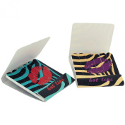 Blue/Yellow/Black Hot Lips Mini Nail File Emery Boards in Small 'Match Stick Packet' -Pack of 2