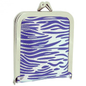 TOC Ladies - Girls Funky Purple & Silver Zebra Print Case Emergency Sewing Kit Set SC858