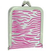 TOC Ladies - Girls Funky Pink & Silver Zebra Print Case Emergency Sewing Kit Set SC857