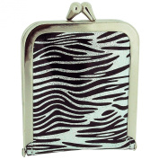 TOC Ladies - Girls Funky Black & Silver Zebra Print Case Emergency Sewing Kit Set SC856