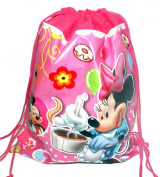 Kids Cartoon Character Double Print Drawstring PE Shoe Swimming Bag Gym Nursery Backpack Mickey