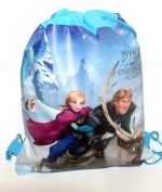 Kids Cartoon Character Double Print Drawstring PE Shoe Swimming Bag Gym Nursery Backpack Frozen