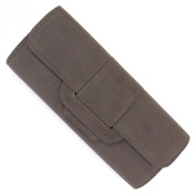Grey Velour Velvet Foldover Envelope Clutch Bag and Purse
