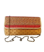 Bhamini Women's Rose Touch Brocade Clutch
