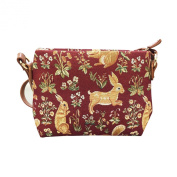 Signare Womens Tapestry Fashion Shoulder Handbag Across Body Bag in Forest Life Red Design