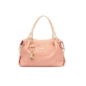 Fineplus Womens Fashion Simple Business PU Leather Shoulder Straps Handbags Pink