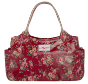 Cath Kidston New Oilcloth Kingswood Rose Day Bag In Red