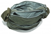 Big Handbag Shop Multiple Zip Pocket Lightweight Messenger Shoulder Cross Body Bag