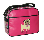 David & Goliath Despatch Messenger Shoulder Bag You So Pugly Pink Fuchsia Back To School