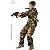 M/L Boys Special Force Costume for Soldier Army Fancy Dress Kids 5-7yrs 128cm