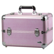 Blush Professional Large Pink Aluminium Cosmetics and Make-up Beauty Case