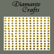 169 x 4mm Gold Diamante Self Adhesive Rhinestone Body Vajazzle Gems - created exclusively for Diamante Crafts