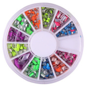 Rivet Square Metal Stud Rhinestone Nail Art DIY Decoration