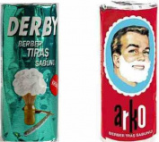 Arko and Derby Shaving Cream Soap Sticks