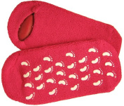 Moisturising Gel Socks One Size - Deep Pink