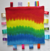 Baby taggie security comfort blanket -rainbow