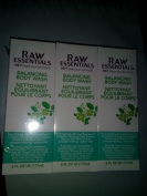RAW Essentials Balancing Body Wash 180ml, Pack of 3