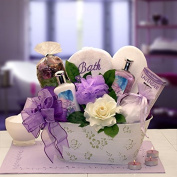 Elegant Lavender Spa for Her -Women's Birthday, Holiday, or Mother's Day Gift Basket Idea