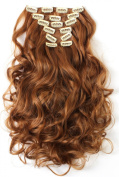 SR Hair 50cm Wavy Clip In Hair Extensions 7pcs/set High Resistant Synthetic Fibre Mulitcolor