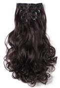 SR Hair 50cm Wavy Clip In Hair Extensions 7pcs/set High Resistant Synthetic Fibre Mulitcolor