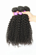 Brazilian Kinky Curly Wave Human Virgin Hair Unprocessed Remy Human Hair Extension Deep Curly Weave Weft Natural Colour 3 Bundles/lot, 300g Total Grade 6A