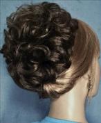 HAYLEY Clip On Hairpiece 34 Dark Brown with 10% Grey