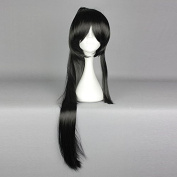springcos Cosplay Show TOUKEN Taroutachi Black Stright Hair Wig with Ponytail